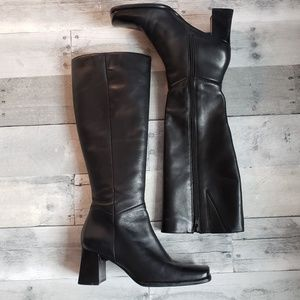 Nine West Leather Heeled Riding Boots